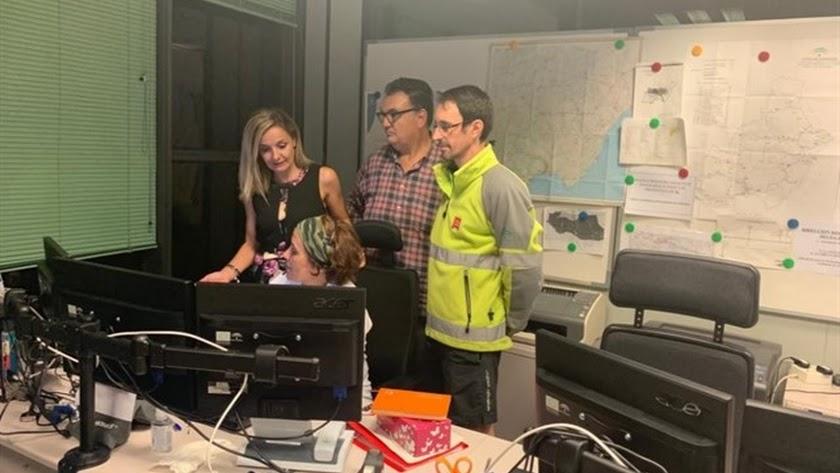 Maribel Sánchez visita las instalaciones de Emergencias 112.