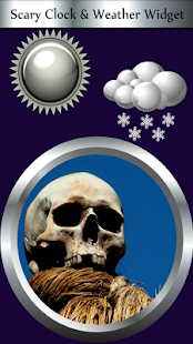 Scary Clock & Weather Widget - náhled