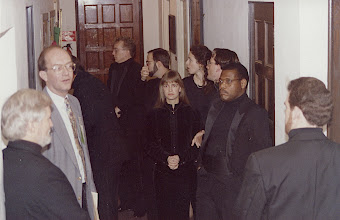 Photo: Nov. 1994: Rollins College; Mannerist Mania concert performed for the statewide American Choral Directors Association. Before singing: Don Olgesby with singers.
