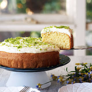 Tangy Lime Coconut Cake with Lime Frosting.