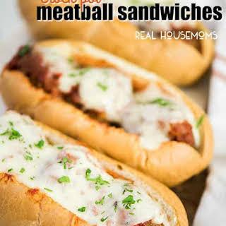 Crock Pot Meatball Sandwiches.