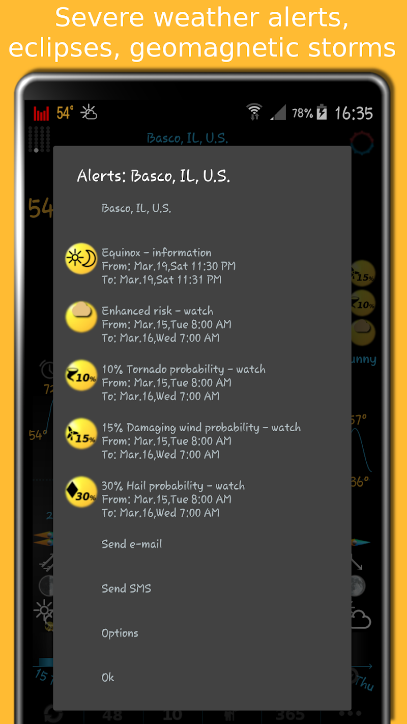 eWeather HD - weather, hurricanes, alerts, radar Screenshot 2