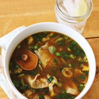 Asian Style Dumpling Soup.