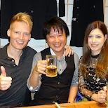 drinking with my friends at the IKA center in Tokyo, Tokyo, Japan