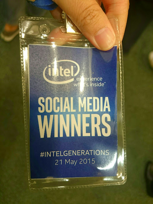 My tag for the #IntelGenerations event: It says Social Media Winner!