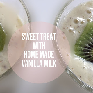 Pineapple & Kiwi Shake With Home Made Vanilla Milk
