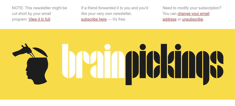 Brainpickings's newsletter header