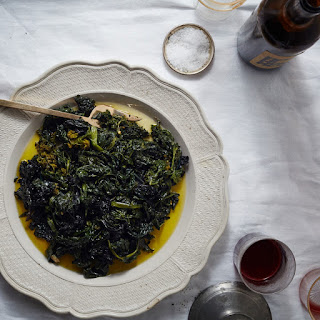 Slow-Cooked Garlicky Greens