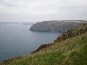 Photo: From Marloes Sands to Broad Haven (bkgrd: Borough Head and Broad Haven)
