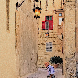 The Warden of Mdina City Malta by James Morris - Digital Art Places ( city, malta, warden, mdina )