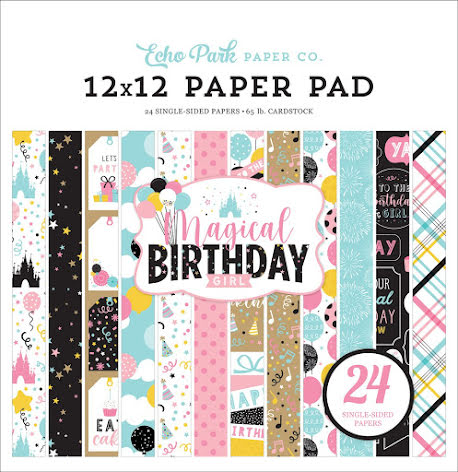 Echo Park 12X12 Single-Sided Paper Pad - Magical Birthday Girl