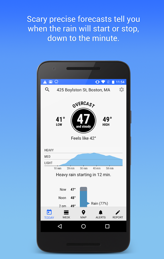 Dark Sky - Hyperlocal Weather- screenshot