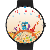 Travel the world Watch Face
