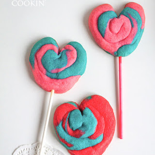 Valentine Play Dough Cookie Pops.