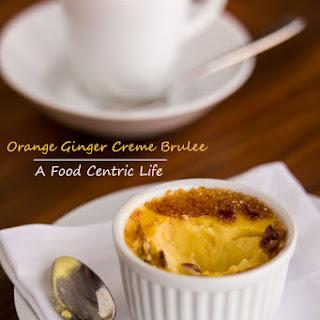 Orange Ginger Creme Brûlée