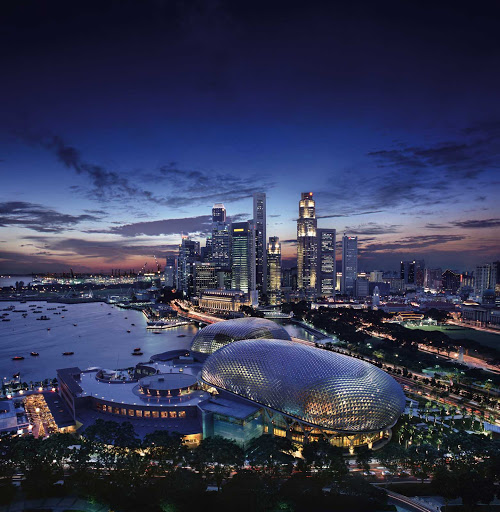 singapore-skyline.jpg - A beautiful view of the very modern Singapore skyline at dusk.