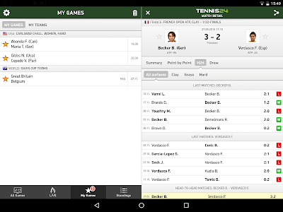 Tennis 24 - tennis live scores screenshot 5