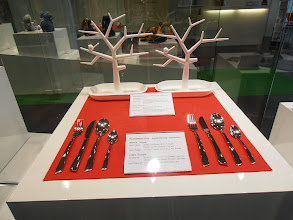 """Photo: Originals on the left, counterfeit copies on the right. 2014 Aktion Plagiarius exhibit, recognizing """"the world's most flagrant counterfeits"""" #ambiente14"""