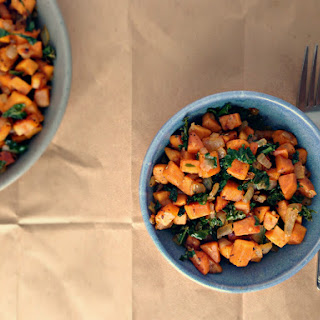 Kale & Sweet Potato Breakfast Hash.