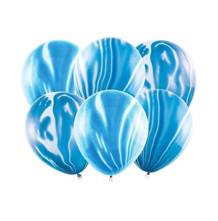 Ballonger - Marmor blå