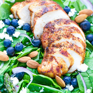 Blackened Chicken Spinach Salad