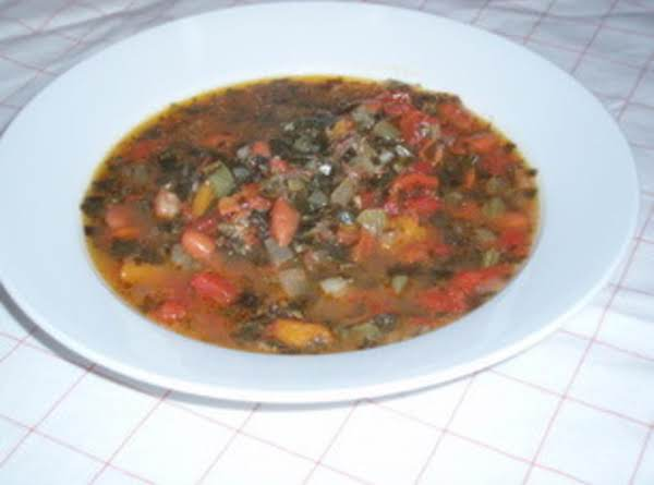 Greens And Beans Squash Soup