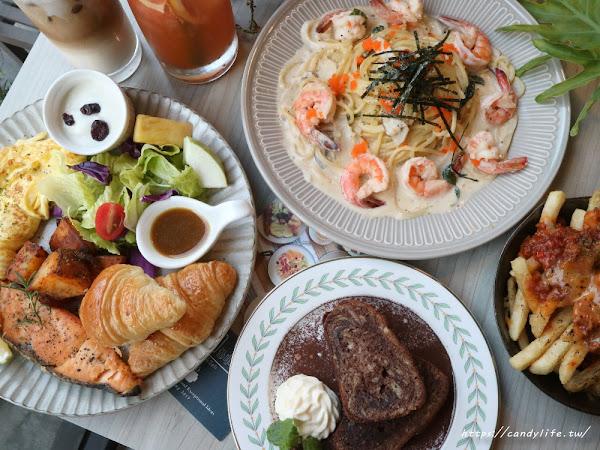 Hecho做咖啡Lite&Deli台中早午餐推薦,份量超多,環境優美,還有義大利麵及好吃鬆餅~