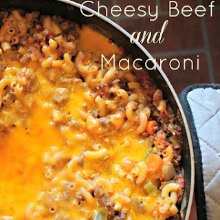 One Skillet Cheesy Beef and Macaroni.