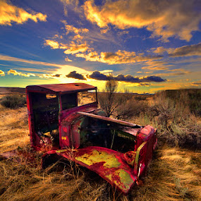 Long forgotten truck by Charles Knowles - Transportation Automobiles ( idaho, truck, sunset )