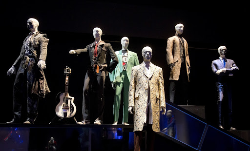 Exhibition interior of 'David Bowie is…'