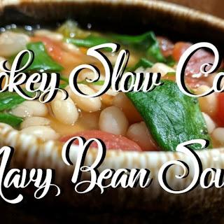Smokey Slow Cooker Navy Bean Soup Recipe