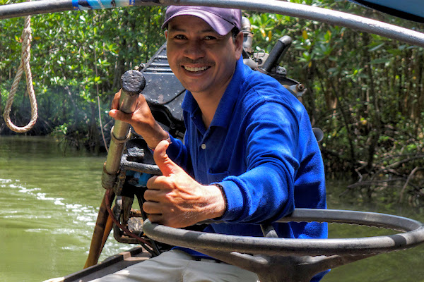 An experienced, local guide will lead you through the mangrove labyrinth of Krabi