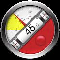 Clinometer + bubble level icon