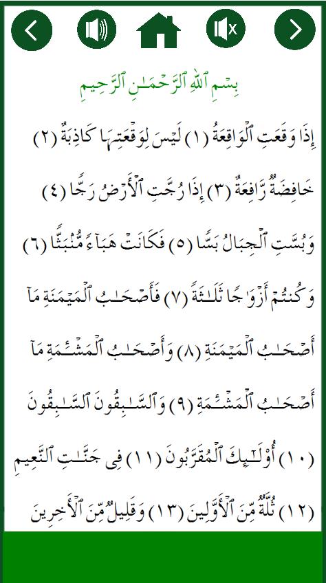 Surah Al Waqiah Plus MP3 Audio- screenshot