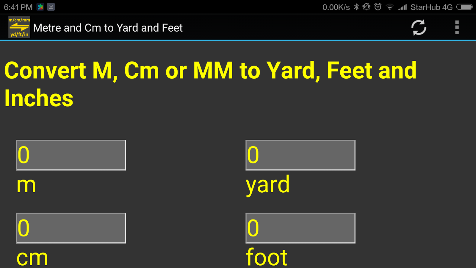 M Cm Mm To Yard Feet Inch Converter Tool Android