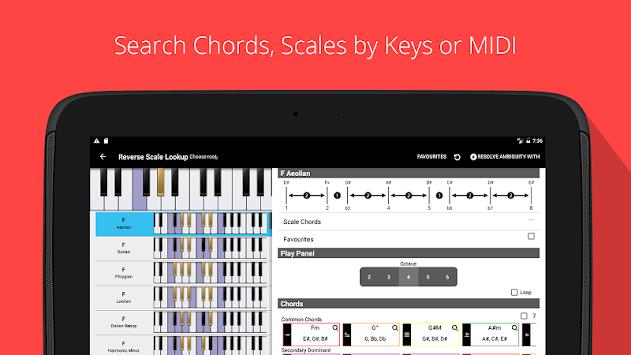 Download Piano Chords, Scales, Progression Companion PRO APK latest ...