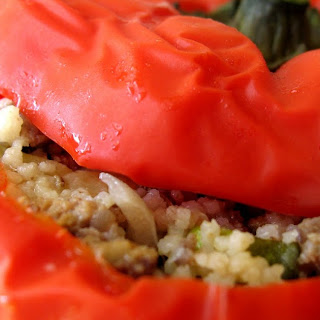 Mom's Meat and Couscous-Stuffed Peppers