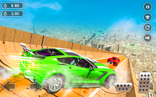 Mega Ramp Car Simulator u2013 Impossible 3D Car Stunts apkpoly screenshots 1