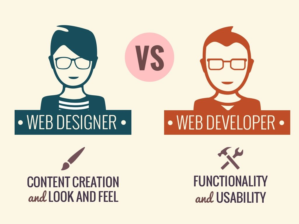 web designer vs web developer comparison