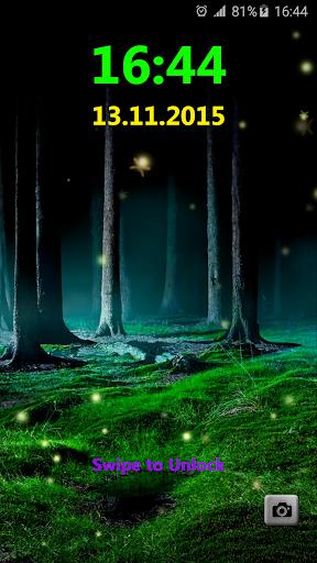 Fireflies Lock Screen
