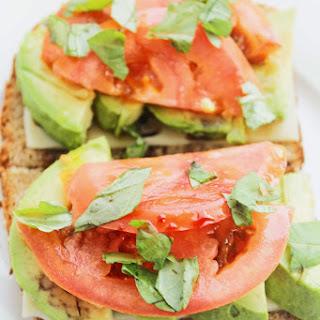 Avocado Tomato Open Face Sandwich