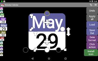 Screenshot of Status bar Calendar Demo
