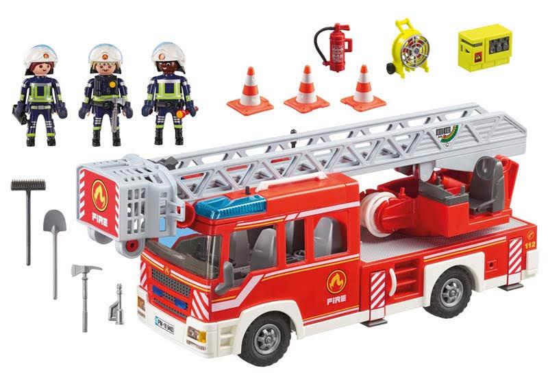 Contenido Real de Playmobil® 9463 Camión de Bomberos con Escalera