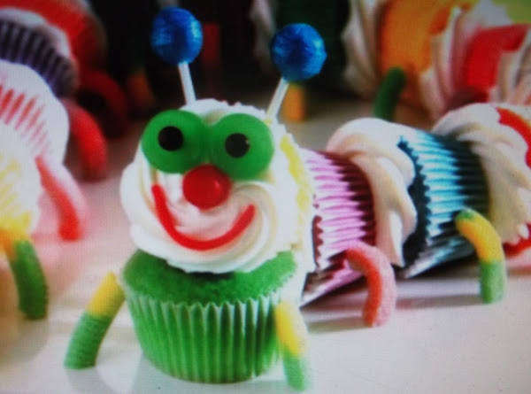 Colorful Caterpiller Cupcakes Recipe