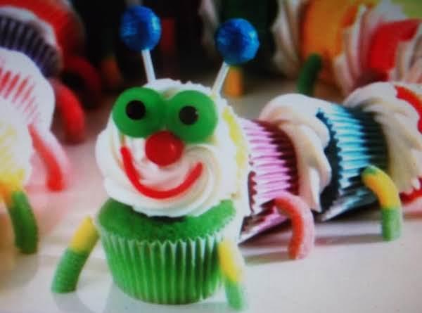 Colorful Caterpiller Cupcakes