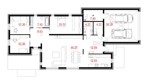 House 11 - Rzut parteru