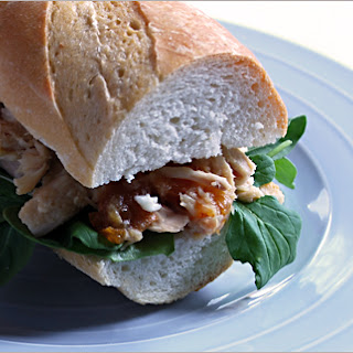 Chicken, Goat Cheese & Apricot Jam Sandwich