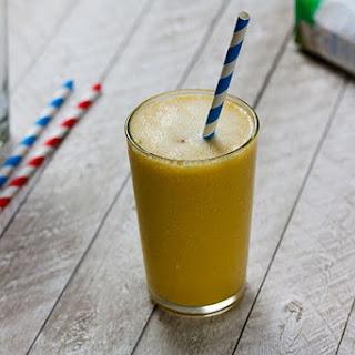 Coconut Water Mango Drink.
