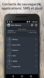 Sauvegarde Faciles (Easy Backup & Restore) Capture d'écran