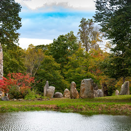 Columcille Megalith Park by Tracy Gruver - Novices Only Landscapes ( spiritual, stone henge )